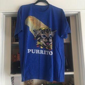 """Cat """"purrito"""" shirt"""